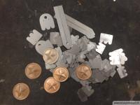 Gelaserte und galvanoplastisch kopierte Teile
