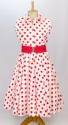 50er Jahre Polka Dot Kleid mit Petticoat