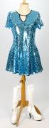 60er Jahre Kleid blau