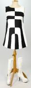 60er Jahre Kleid Op-Art