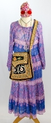 Hippie Damenkleid 70er Jahre
