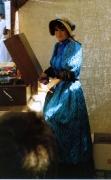 Biedermeier Damenkleid mit Schute