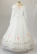 Biedermeier Kleid weiss
