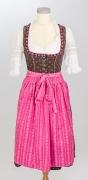 Dirndl braun/pink