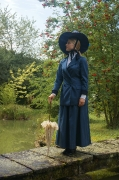 Jahrhundertwende Dame blau