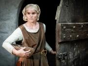 Bauernfrau aus dem Mittelalter