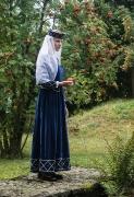 Mittelalter Dame blau