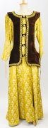 Mittelalter Kleid gelb