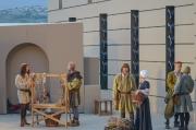 Mittelalter Kostüme auf der Bühne