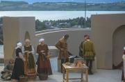 Mittelalter Kostüme bei einer Freilichtaufführung