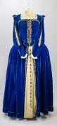 Barock Damenkleid blau