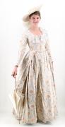 Rococo Damenkostüm mit Florentinerhut