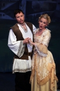Rococo Damenkleid bei einer Aufführung des Zigeunerbarons