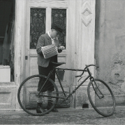 1920er Fahrradfahrer Junge