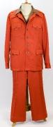 70er Jahre Anzug orange