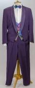 80er Jahre Anzug violett