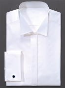 Hemd mit Kläppchenkragen und Doppelmanchette