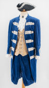 Barock Kostüm blauer Samt