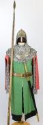 Mittelalter Wache mit Lanze und Schwert
