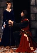 Mittelalter Ritter mit Burgfräulein