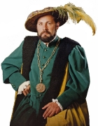 Renaissance Kostüm mit Ordenskette