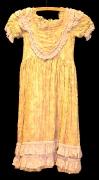 Biedermeier Mädchenkleid gelblich