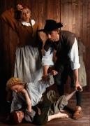 Szene Mittelalterfamilie