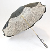 Schirm schwarz-weiss
