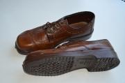 Schuhe 60er braun