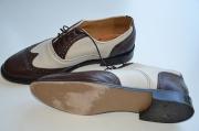 Schuhe braun-weiss