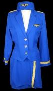 Hostesse blau im 50er Jahre Stil