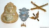 Eine Auswahl von galvanoplastischen Abzeichen aus unserer Herstellung