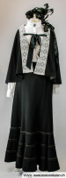 dunkles Jahrhundertwende Kleid