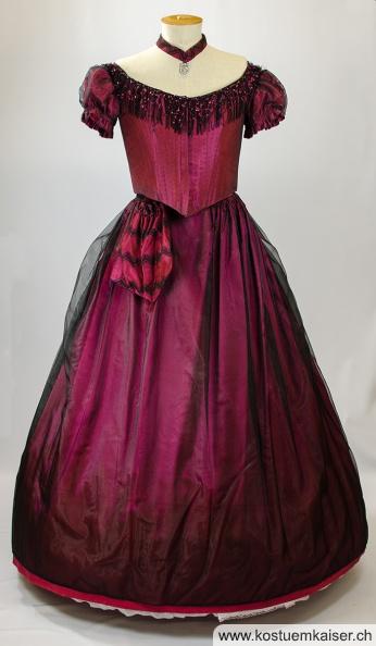 Biedermeier Damenkleid mieten - Kostüm Kaiser