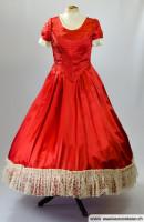 Biedermeier-Kleid-rot