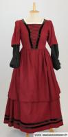 Rotes Barock Damenkleid