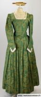 Barock-Kleid grün