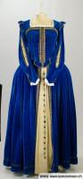 Blaues Barockkleid