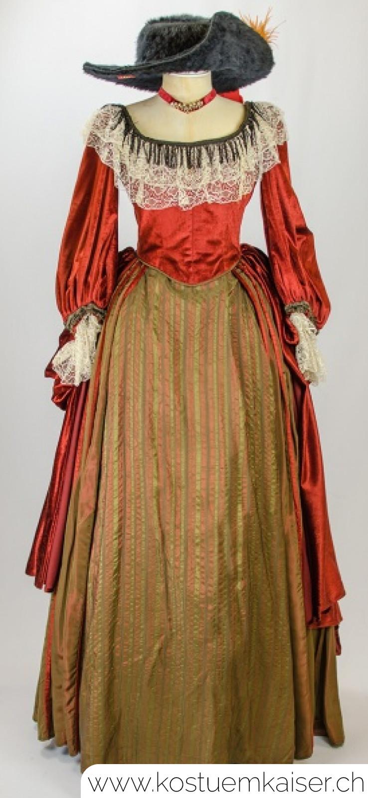 Barock Damenkleid mieten - Kostüm Kaiser