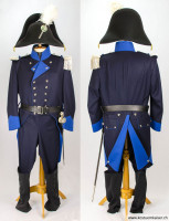Massgeschneiderte <b>Thurgauer Miliz-Offizier</b> Uniform um 1804