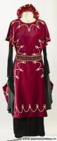 Rotes Mittelalterkleid