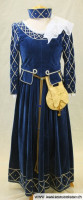 Blaues Mittelalterkleid