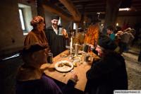 Mittelalterkostüme bei einem Filmdreh