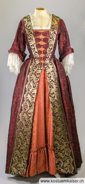 Rococo Damenkleid mieten - Kostüm Kaiser