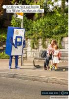 Billettautomat ZVV Maskottchen