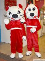 Maskottchen Katze Und Hund